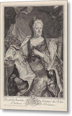 Portrait Of Elizabeth Charlotte Of The Palatinate Metal Print
