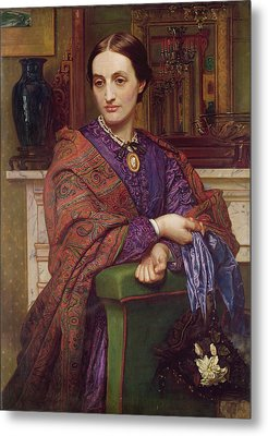 Portrait Of Fanny Holman Hunt 1866-68 Metal Print
