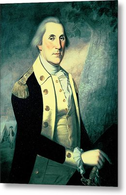 Portrait Of George Washington Metal Print by James the Elder Peale