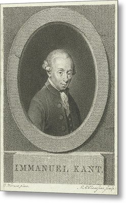 Portrait Of Immanuel Kant, Lambertus Antonius Claessens Metal Print