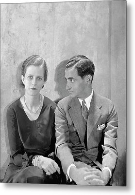 Portrait Of Irving Berlin And His Wife Metal Print