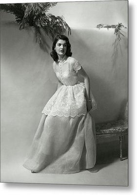 Portrait Of Jacqueline Kennedy Onassis Metal Print