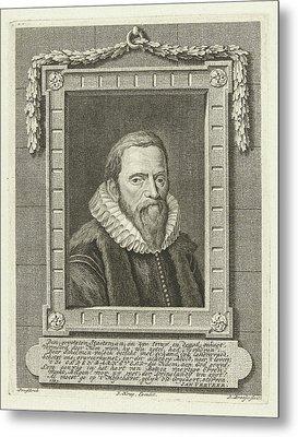 Portrait Of Johan Van Oldenbarneveld, Leendert Brasser Metal Print by Leendert Brasser And Jan Verveer And Jan Krap Az
