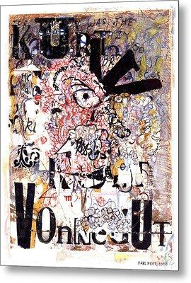 Portrait Of Kurt Vonnegut Metal Print