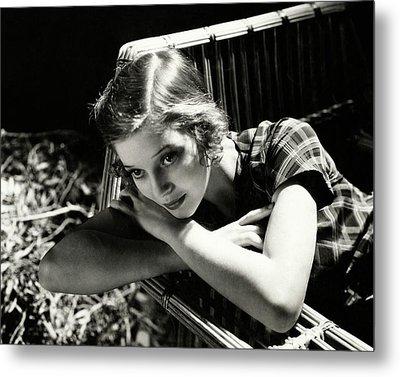 Portrait Of Loretta Young Metal Print