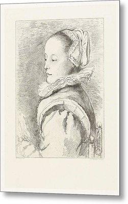 Portrait Of Maria Tesselschade Roemer Visscher Metal Print
