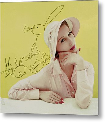Portrait Of Mary Jane Russell Metal Print by Frances Mclaughlin-Gill