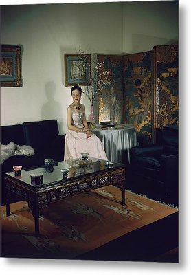 Portrait Of Mme. Pierre David-weill Metal Print by Cecil Beaton