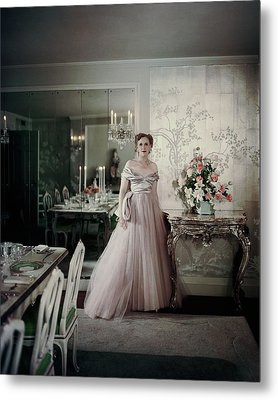 Portrait Of Mrs. Adam Gimbel Metal Print by John Rawlings