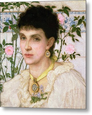 Portrait Of Mrs George Henry Boughton Metal Print by English School