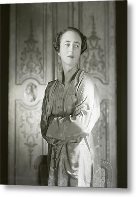 Portrait Of Mrs. Stevens Baird Metal Print