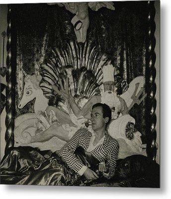 Portrait Of Photographer Cecil Beaton Metal Print