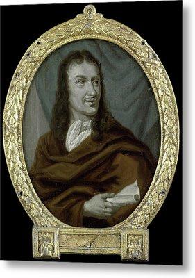 Portrait Of Pieter Verhoek, Poet And Marble Painter Metal Print by Litz Collection