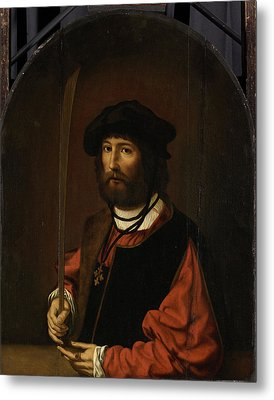 Portrait Of Ruben Parduyn, Knight Of The Holy Sepulchre Metal Print