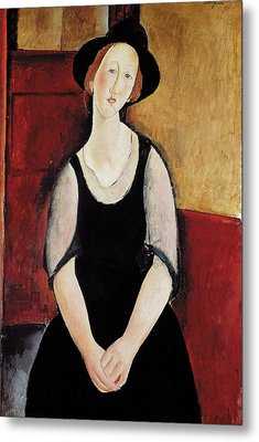 Portrait Of Thora Klinchlowstrom Metal Print