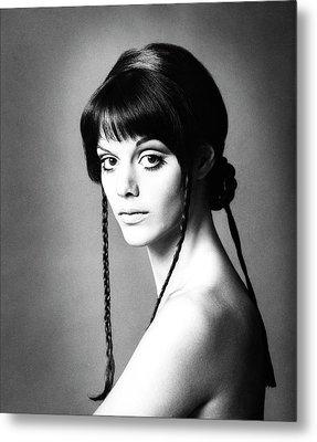 Portrait Of Tina Aumont Metal Print