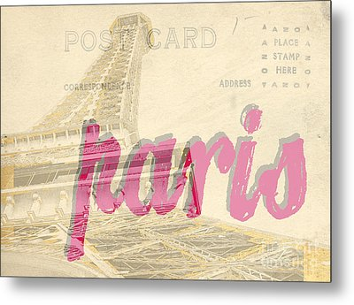 Postcard From Paris Metal Print by Edward Fielding