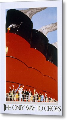 Poster Advertising The Rms Queen Mary Metal Print