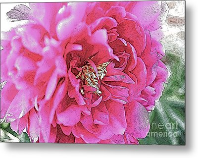 Poster Flower Metal Print by Alison Tomich