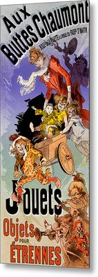 Poster For Aux Buttes Chaumont Toy Metal Print