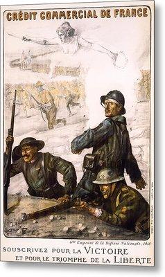 Pour La Victoire - W W 1 - 1918 Metal Print