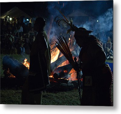 Pow Wow 1 Metal Print by Jose Oquendo