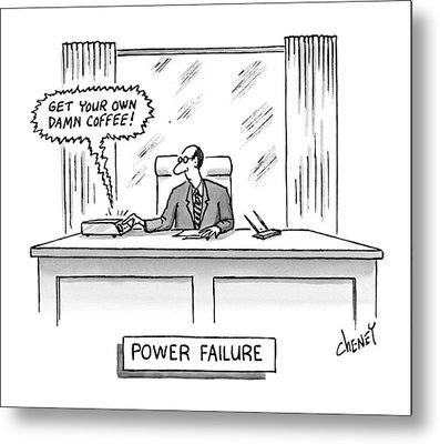 Power Failure Metal Print