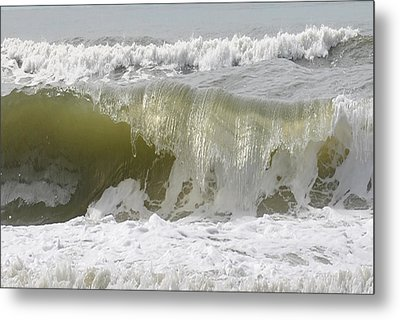Powerful Wave Metal Print by Michele Kaiser