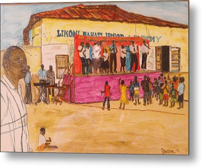 Praisin The Lord In Kenya Metal Print by Larry Farris