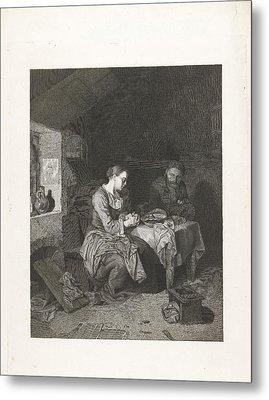 Prayer Before Meals, Bega Friedrich Wilhelm Burmeister Metal Print