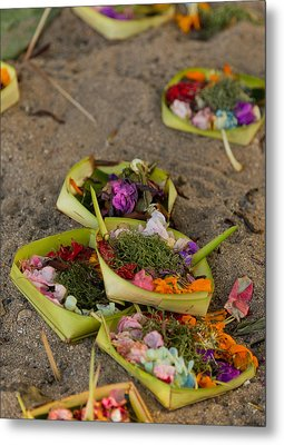 Metal Print featuring the photograph Prayer Offerings - Bali by Matthew Onheiber