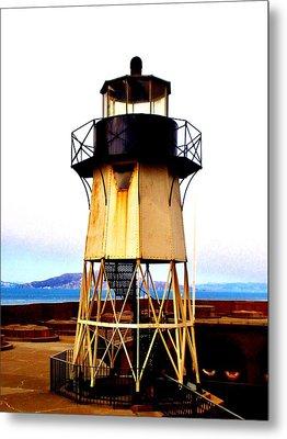 Presidio Lighthouse Metal Print by Sharon Costa