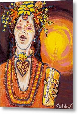 Priestess Metal Print by Mardi Claw