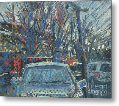 Primary Parking Metal Print by Donald Maier