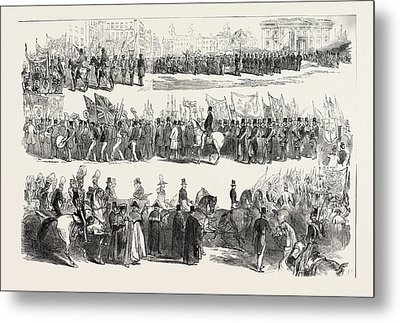 Prince Alberts Visit To Liverpool The Great Procession Metal Print by English School