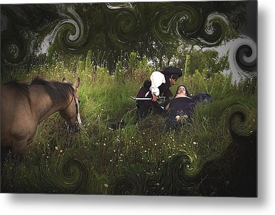 Prince And Snow White Metal Print by Cherie Haines