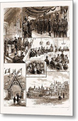 Prince Leopolds Visit To Colchester, And The Installation Metal Print by Litz Collection