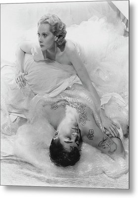 Princess Natalie Paley And Victor Kraft Metal Print by Cecil Beaton