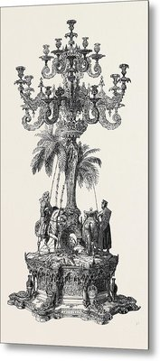 Prize Candelabrum Metal Print by English School