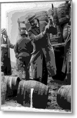 Federal Prohibition Agents Destroy Liquor 1923 Metal Print