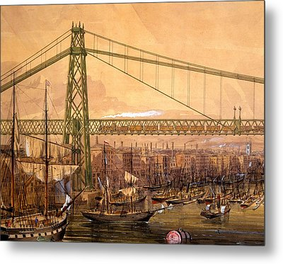 Proposed Railway Bridge Metal Print by English School