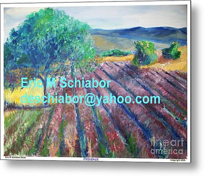 Provence Lavender Field Metal Print by Eric  Schiabor