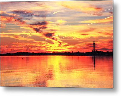 Metal Print featuring the photograph Provincetown Harbor Sunset by Roupen  Baker