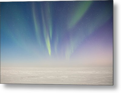 Prudhoe Bay Aurora Borealis Metal Print by Sam Amato
