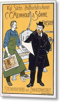 Poster Advertising C C Meinhold And Sons Metal Print