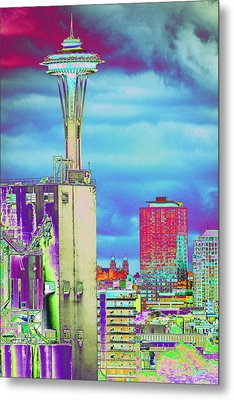 Psychedelic Seattle Metal Print by Richard Henne