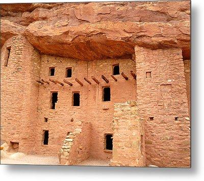 Pueblo Cliff Dwellings Metal Print by Tony Crehan