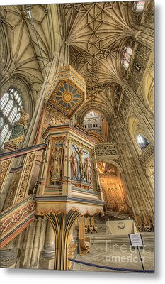 Pulpit I Canterbury Cathedral Kent Uk Metal Print by Jack Torcello