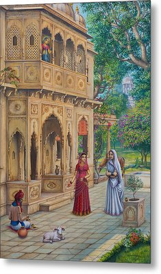 Purnamasi In House Of Kirtida Metal Print by Vrindavan Das