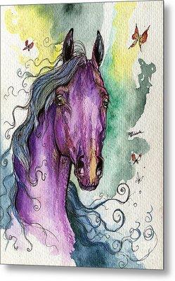 Purple Horse Metal Print by Angel  Tarantella